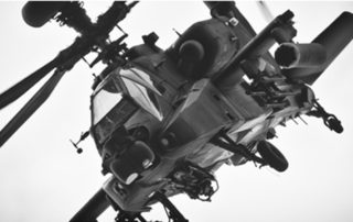 Military helicopter with rotationally molded ecs ducting