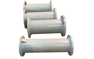 ETFE-lined rotationally-lined pipes