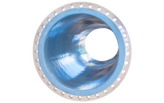 Rotolined white pipe with ETFE